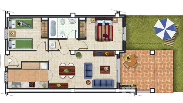 apartment model Bego�a bj. Central - Jardines de Montecala
