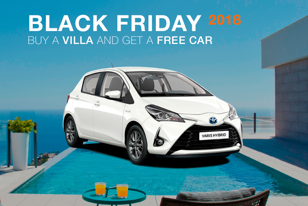 Take advantage of our Black Friday! Buy a villa on the Costa Blanca and get a free car