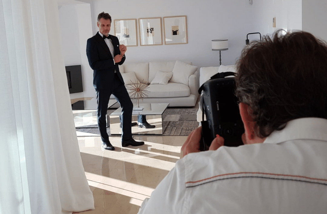 Blanc Altea Homes becomes an advertising set for the day