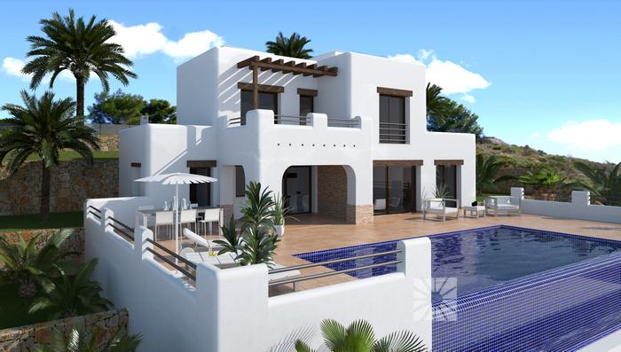 Villas for sale in Cumbre del Sol  villa model VENECIA with 244,45 Sqm.