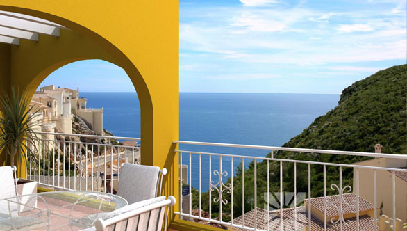 Miramar de Montecala, terraced apartments with views of the Mediterranean Sea.